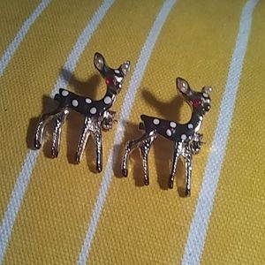 VTG Set Deer Polka Dot Pins Brooch